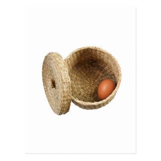 バスケットの卵 ポストカード