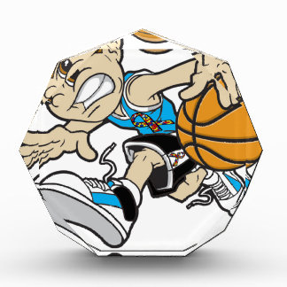 バスケットの女の子の自閉症のリボン 表彰盾