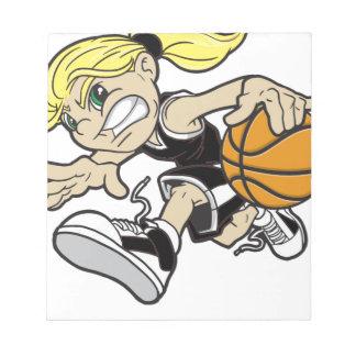 バスケットの女の子 ノートパッド