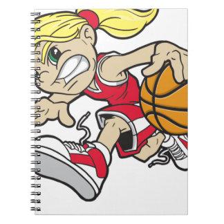 バスケットの女の子 ノートブック
