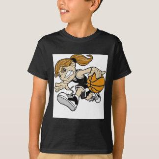 バスケットの女の子 Tシャツ