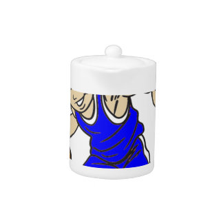 バスケットの男の子の青の文字