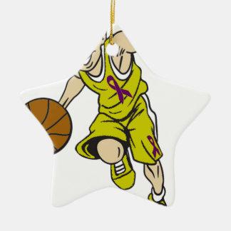 バスケットの男の子 セラミックオーナメント