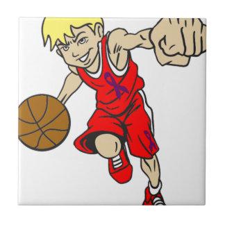 バスケットの男の子 タイル