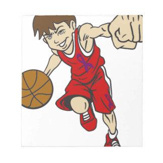 バスケットの男の子 ノートパッド