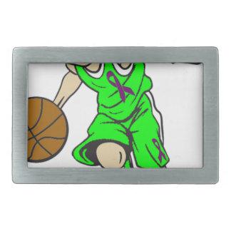 バスケットの男の子 長方形ベルトバックル