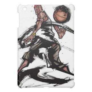 バスケットボールと遊んでいるバスケットボール選手 iPad MINI カバー