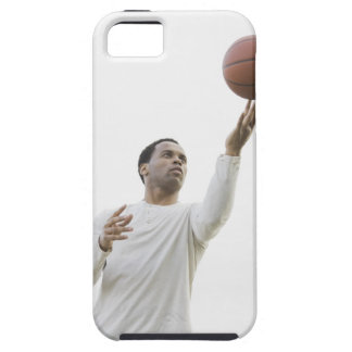 バスケットボールと遊んでいる人スタジオの打撃 iPhone SE/5/5s ケース