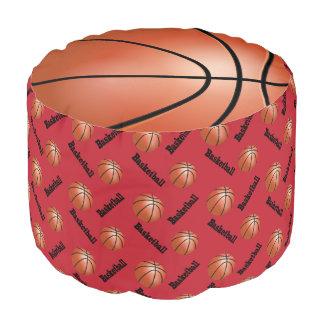 バスケットボールのえんじ色のスポーツパターン プーフ