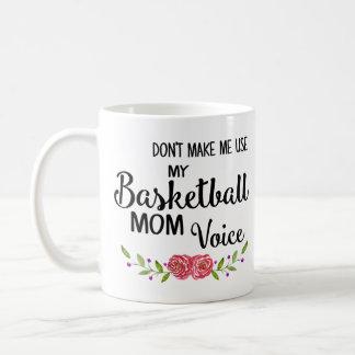 バスケットボールのお母さんの声 コーヒーマグカップ