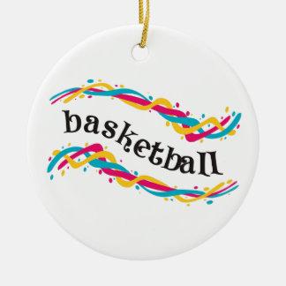 バスケットボールのねじれ セラミックオーナメント