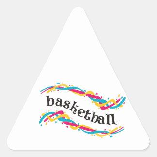 バスケットボールのねじれ 三角形シール