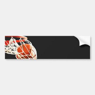 バスケットボールのアートワーク バンパーステッカー