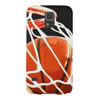 バスケットボールのアートワーク GALAXY S5 ケース