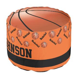 バスケットボールのオレンジスポーツパターン プーフ