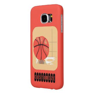 バスケットボールのカスタムなオレンジSamsungの銀河系S6の箱 Samsung Galaxy S6 ケース