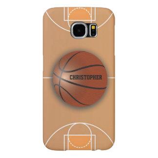 バスケットボールのカスタムな電話箱 SAMSUNG GALAXY S6 ケース