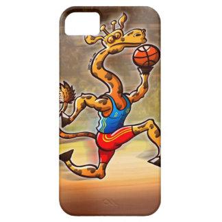 バスケットボールのキリン iPhone SE/5/5s ケース