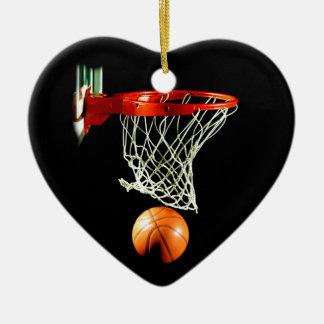 バスケットボールのクリスマスツリーのオーナメント セラミックオーナメント