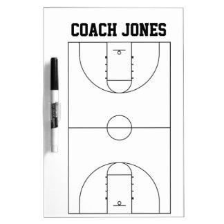 バスケットボールのコーチのためのホワイトボード ドライイレースボード