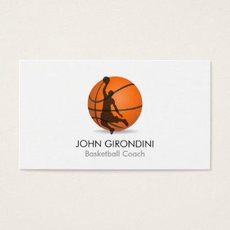 バスケットボールのコーチのパーソナルトレーナーのモダンのトレンディー 名刺