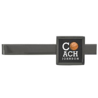 バスケットボールのコーチの名前をカスタムするの黒のタイ・バー ガンメタル タイバー