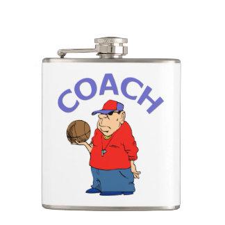 バスケットボールのコーチの漫画 フラスク