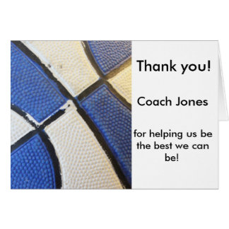 バスケットボールのコーチカードありがとう カード