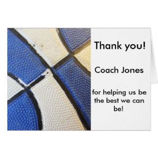 バスケットボールのコーチカードありがとう グリーティングカード