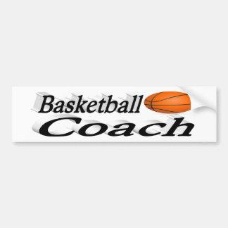 バスケットボールのコーチ3Dのバンパーステッカー バンパーステッカー