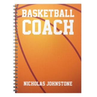 バスケットボールのコーチ ノートブック