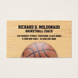 バスケットボールのコーチ 名刺