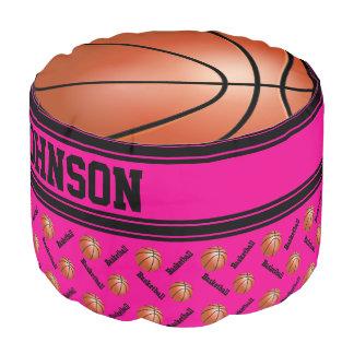 バスケットボールのショッキングピンクのスポーツパターン プーフ