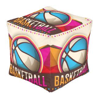 バスケットボールのスポーツの状況のカッコいいの抽象芸術 プーフ