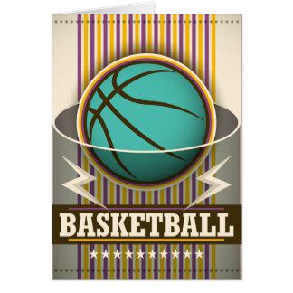 バスケットボールのスポーツの状況のカッコいい カード