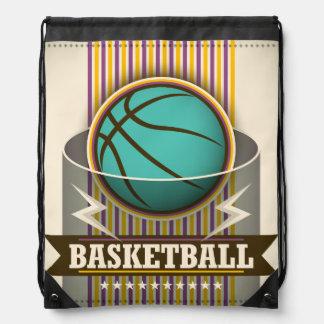 バスケットボールのスポーツの状況のカッコいい ナップサック