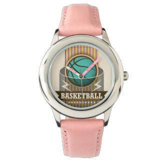 バスケットボールのスポーツの状況のカッコいい 腕時計