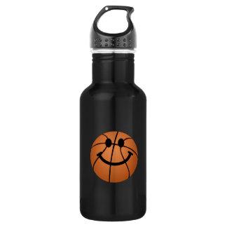 バスケットボールのスマイリーフェイス ウォーターボトル