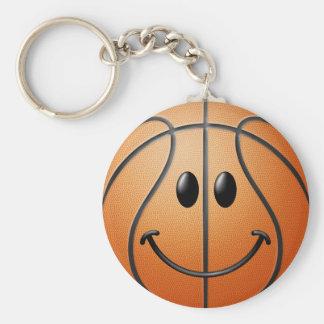 バスケットボールのスマイリーフェイス キーホルダー