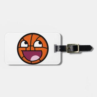 バスケットボールのスマイリーフェイス ラゲッジタグ