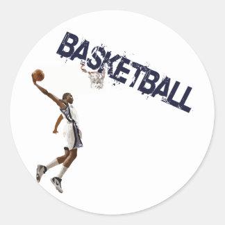 バスケットボールのダンク ラウンドシール