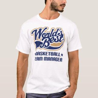 バスケットボールのチームマネージャーのギフト Tシャツ