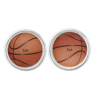 バスケットボールのデザインのカフスボタン カフリンクス