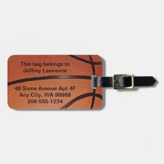 バスケットボールのデザインの荷物のラベル ラゲッジタグ