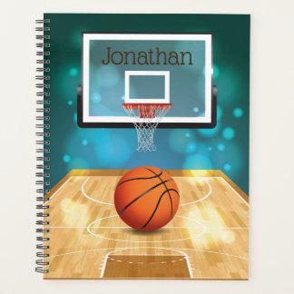バスケットボールのデザインの週間か月例プランナー プランナー手帳
