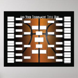 バスケットボールのトーナメントブラケット ポスター
