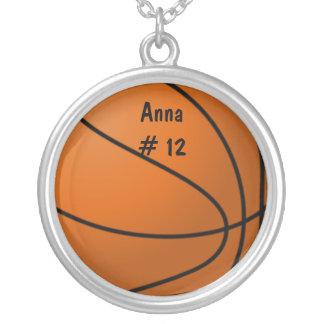 バスケットボールのネックレス シルバープレートネックレス