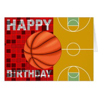 バスケットボールのハッピーバースデーカード カード
