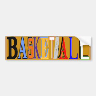 バスケットボールのバンパーステッカー バンパーステッカー