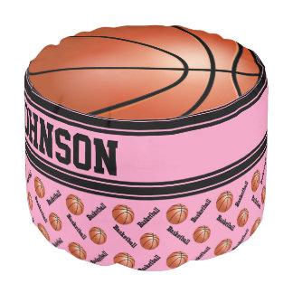 バスケットボールのピンクのスポーツパターン プーフ